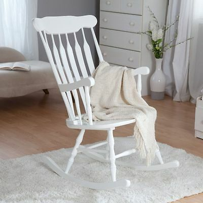 Rocking Chair Baby Nursery White Wood Shabby Chic Country Home