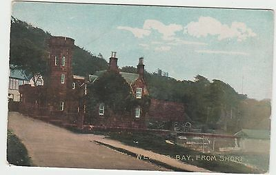 Postcard of Wemyss Bay, from shore. Early 1900s