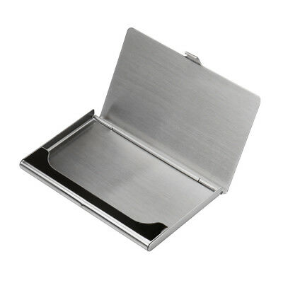 Wallet Business Stainless Steel Box Name Credit ID Card Holder Pocket Case Cover