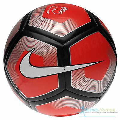 Nike 2015 2017 Pitch Premier League Football Red Silver Ball Size 5 R163