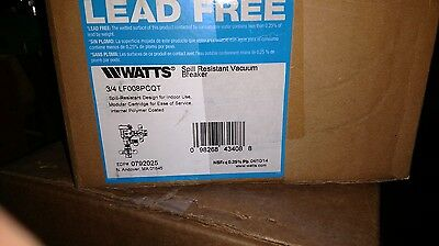 "watts vacuum breaker 008pcqt 3/4"" , brand new in box. Shipping included"