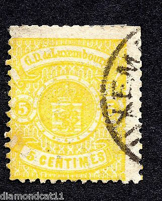 1874 Luxembourg 5c Yellow SG 43 FINE USED R23503 CAT £24