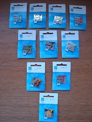 rare and hard to find set of 10 countdown pins from Athens 2004 Olympic Games