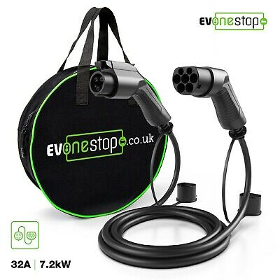 EV / Electric Car - Charging Cable | 5m | 32Amp | Type 1 to Type 2 | NEW |