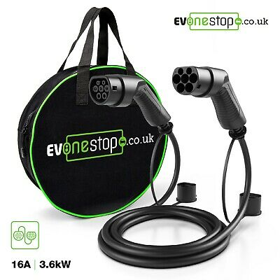 EV / Electric Car - Charging Cable | 5m | 16Amp | Type 2 to Type 2 | NEW |