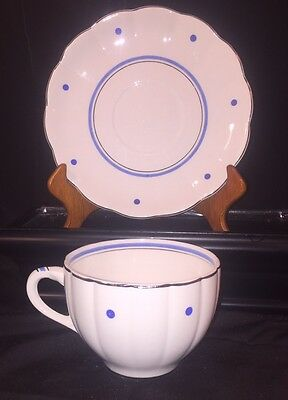 WS George Petal Ware Georgette Cup/Saucer W/decals & Stamp - Great! - Free Ship!