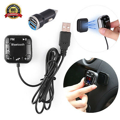 Bluetooth Magnetic FM Transmitter Car Kit USB Charger SD MP3 Player Call Answer