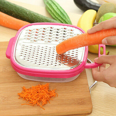 Vegetable Process Cutter Slicer Peeler Kitchen Grater Container Storage Box 2017
