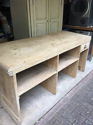 Vintage - Large Antique Pine Shop Counter With Till Draw