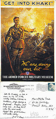 Us Get Into Khaki Armed Forces Military Museum Advertising Colour Postcard