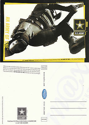 US ARMY AN ARMY OF ONE RECRUITMENT UNUSED COLOUR POSTCARD (b)