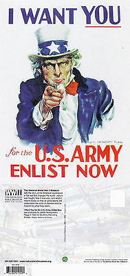 Us Uncle Sam Us Army Enlist Now Advertising Unused Colour Postcard