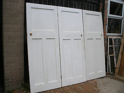 Reclaimed 1930s 1 over 2 panel doors. Unrestored  (5 available)