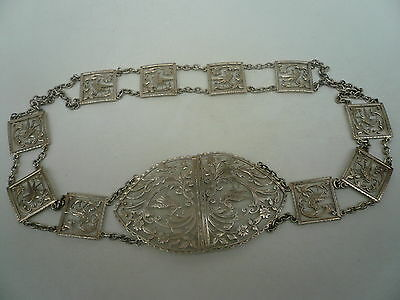 Silver Belt & Buckle, Sterling, Nurses, Antique, English, Hallmarked 1902