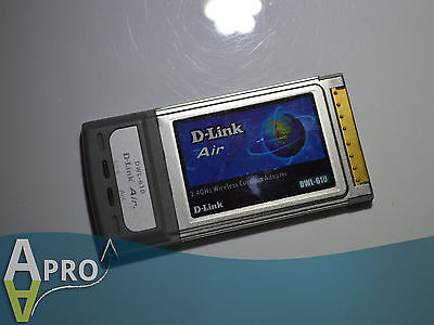 Working D-Link Air B Dwl-610 32Bit Laptop Pcmcia Card - Uk Seller