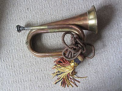 Copper and  Brass Bugle with Tassel rope