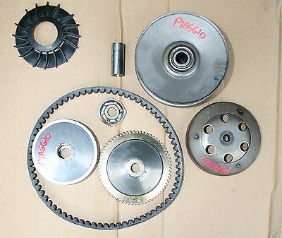 Piaggio Zip 50 4T 2006-2015 Clutch Bell Variator Belt Shoes Clutch Assembly