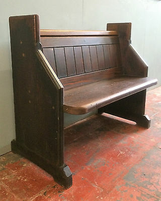 Small Gothic Antique Church Pew /bench, Victorian Arts & Crafts, 2 Seat.