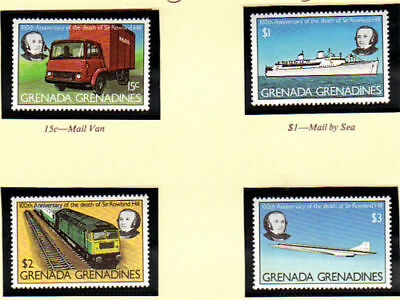 Grenada Grenadines 1979 Sir Rowland Hill Centenary Set Of All 4 Mnh