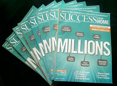 NEW Success From Home Nerium Eddition Magazine Lot of 8 + DVD 2015