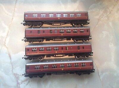 oo Gauge Four Hornby Maroon Duchess Of Sutherland Coaches