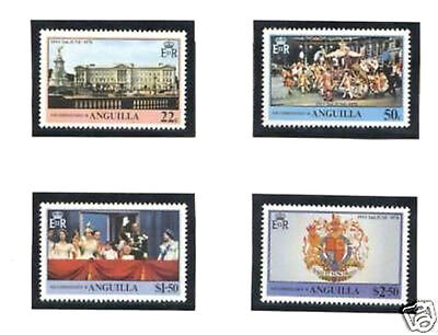 Anguilla 1977 Coronation Set Of All 4 Commemorative Stamps Mnh