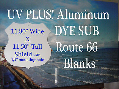 Aluminum Sublimation Route 66 Shield Sign Blank