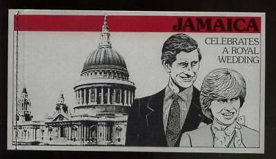 Jamaica 1981 Royal Wedding Unexploded $6.25 Booklet As Issued