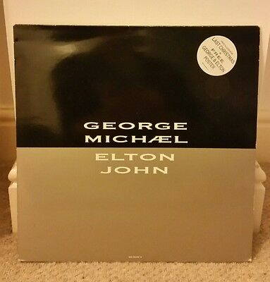 """Elton John + George Michael 12"""" Don't Let The Sun Go Down On Me Includes Poster"""