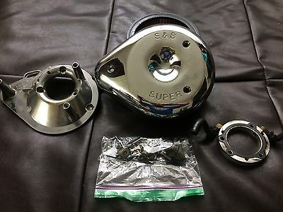 S&s Super Chrome Classic Teardrop Air Cleaner Kit