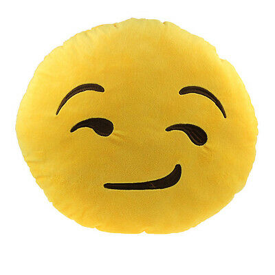 Car Home Office Accessory Emoji Smiley Smirking Cushion Pillow Toy Gift