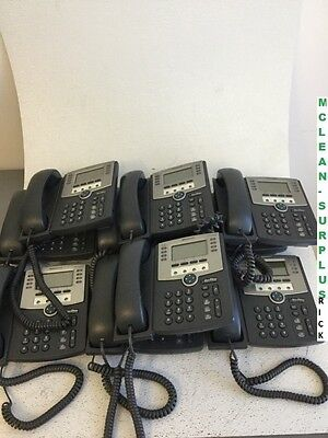 Lot of 10 Cisco IP Office Phones SPA509G with Handset, Cords, Tested and Working