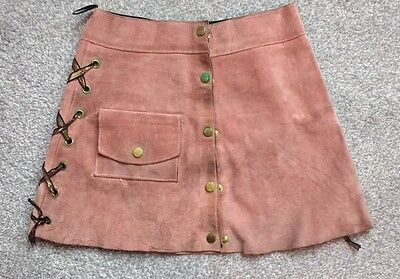 Vintage Rose Suede A-line MINI SKIRT to fit 60cm waist, girls aged 8-12
