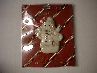 Lenox Merrily Yours Alyssa Personalized Christmas Tree Ornament Porcelain