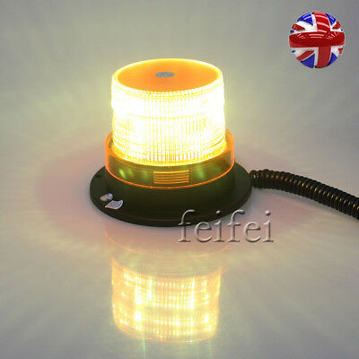 12V Magnetic Strobe Beacon Light Emergency Hazard Flashing Bar Car Van Amber UK