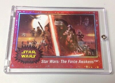 2015 Topps Star Wars Journey to the Force Awakens RED #110 - 1/1 RARE!! 40th!!