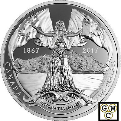 2017Historia Tua Epos Est-150th Ann.Of Cndn Confederation'10oz $100 .9999(18138)