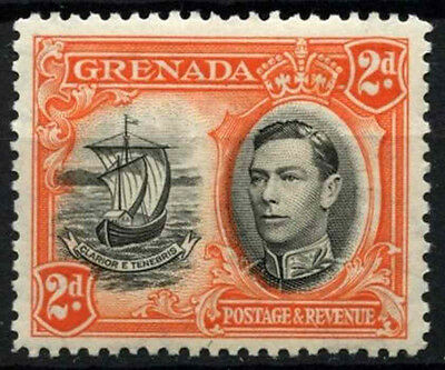 Grenada 1938-50 SG#156, 2d Black And Orange KGVI P12.5 MH #D52164