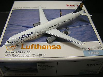 Herpa Wings 1:500 Lufthansa Airbus A321-100 DieCast model D-AIRS 508797