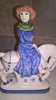 RYE POTTERY Chaucer's Canterbury Tales Hand Painted Figurine THE DYERS WIFE