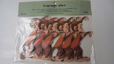 6) Vintage Denmark Honeycomb, Playing Monkeys, New in Package, No. 846