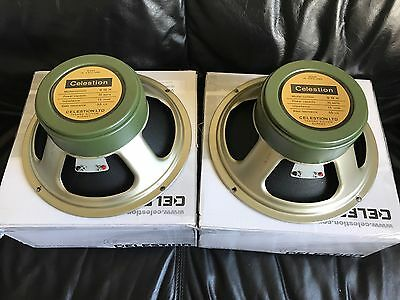 "Pair Of Celestion Heritage Series G12H 12"" Guitar Speakers"