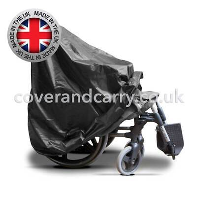 Folded wheelchair waterproof Cover produced in quality backed nylon,UK made