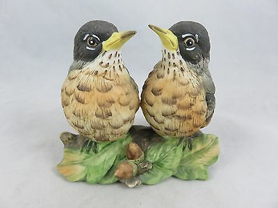 Vtg Angeline Originals - Robin Bird Figurine - Hand Painted Porcelain - Japan