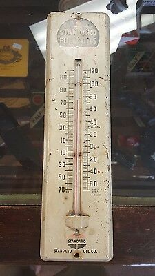 Vintage Standard Fuel Oil Advertising Thermometer Gas Service Station