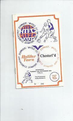 Halifax Town v Chesterfield Football Programme 1974/75