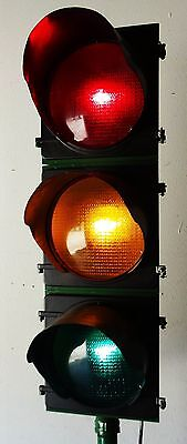 """Traffic Signal Light on Pole Red 12"""" LENSES Wired"""