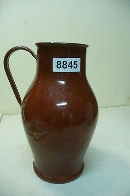 8845. Alte Emaille Email Kanne Old enamel can