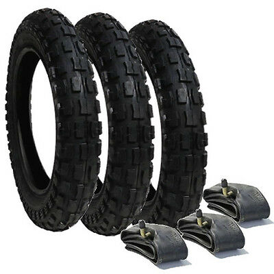 Phil and Teds Sport Heavy Duty Chunky Pram Tyres & Tubes x 3 POST FREE 1ST CLASS