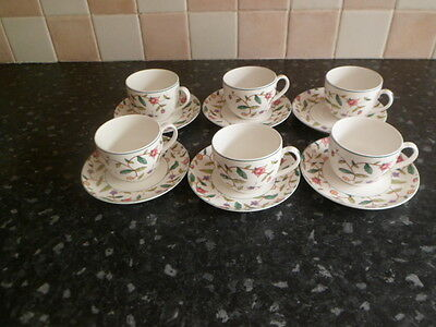 6 Royal Stafford cups & saucers
